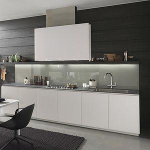 Contemporary Kitchen / Wooden / Laminate / Hidden