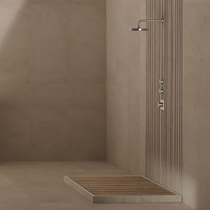 Rectangular Shower Base / Natural Stone / Teak / Non Slip