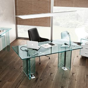 Executive Desk / Glass / Contemporary