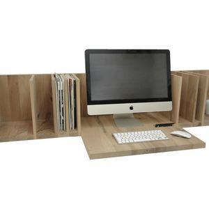 wooden desk wallmounted