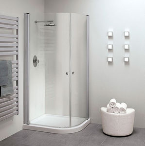 Glass shower cubicle / curved / with sliding door - SILANUS STANDARD ...