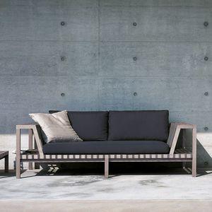 Contemporary Sofa / Fabric / Teak / By Rodolfo Dordoni