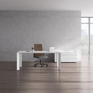 executive desk wood veneer laminate aluminum