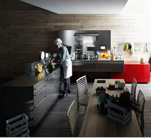 contemporary kitchen stainless steel antis fusion fitted kitchens euromobil