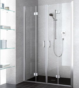 sliding shower screen folding for alcoves corner