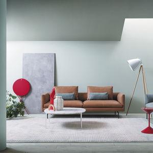 Modular Sofa / Contemporary / Fabric / Leather
