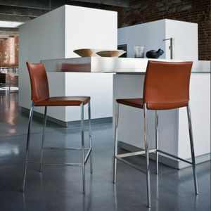 Contemporary Bar Chair / With Footrest / With Removable Cover / Fabric