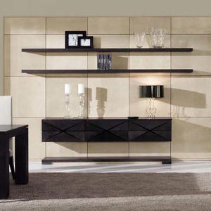 Contemporary Living Room Wall Unit / Walnut