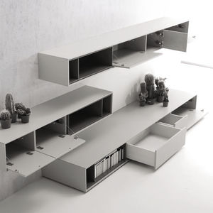 Architectural Drawing Storage living room wall unit - all architecture and design manufacturers