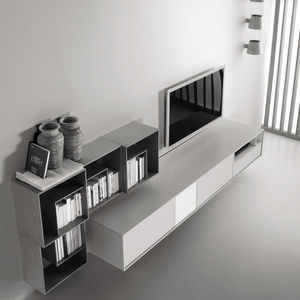 tv wall unit lacquered wood