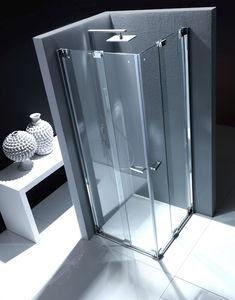 Folding shower screen / for alcoves - NUBIAN: NS1 - Bianchi & Fontana