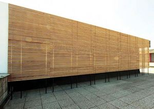 wooden ventilated facade