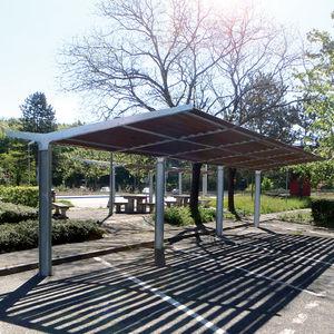 steel carport wooden commercial - Steel Carports