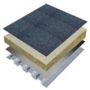 Thermal Acoustic Insulation / Stone Wool / For Flat Roofs / For Green Roofs