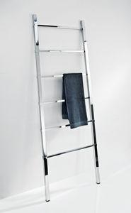 ladder towel rack / more than 3 bars / floor-standing / chrome