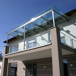 patio canopy / stainless steel / precast & Stainless steel canopy - All architecture and design manufacturers ...