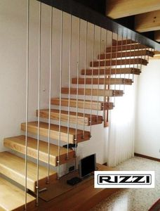 Straight Staircase / Quarter Turn / Metal Frame / Wooden Steps