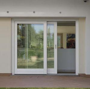 Tilt And Slide Patio Door / Wooden / Aluminum / Quadruple Glazed