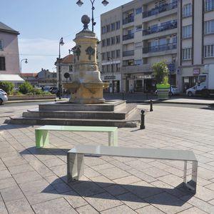 contemporary public space furniture design bd love. Public Bench / Contemporary Galvanized Steel With Integrated Planter Space Furniture Design Bd Love