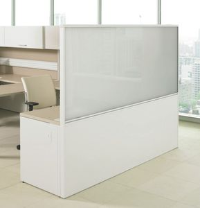 Floor Mounted Office Divider / Countertop / Glass / Laminate