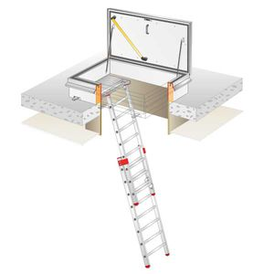roof hatch rectangular metal with ladder