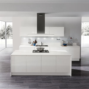 Contemporary Kitchen Melamine Island Lacquered