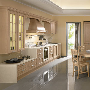 Traditional kitchen / wooden / island / ecological - YLENIA - ARAN ...