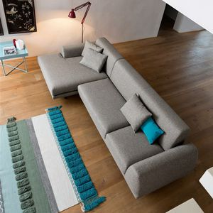 Corner Sofa / Contemporary / Fabric / 3 Seater