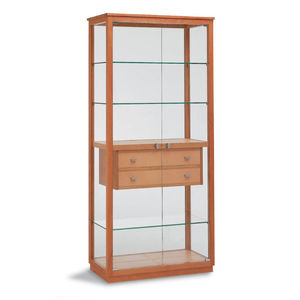 Inspirational Wood and Glass Display Cabinet