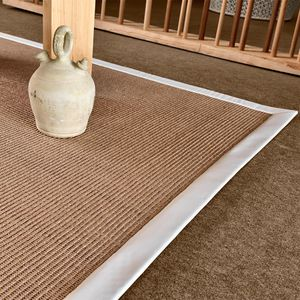 rug plain sisal rectangular