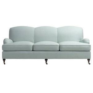 Traditional Sofa Fabric 3 Seater On Casters