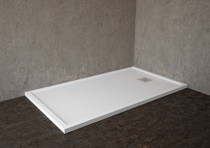 Rectangular Shower Base / Solid Surface / Flush / Custom