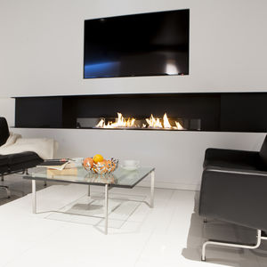 bioethanol fireplace open hearth 2sided