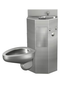 Free Standing Toilet / Stainless Steel / With Integrated Hand Basin / For  Public Sanitary