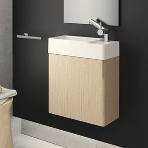 Genial Wall Hung Washbasin Cabinet / PVC / Contemporary / With Mirror