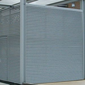 aluminum ventilation grill / linear / for facades / door & Door ventilation grill - All architecture and design manufacturers