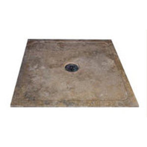square shower base travertine