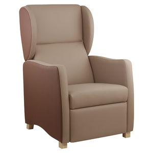 Contemporary Armchair / Polyurethane / With Footrest / Contract