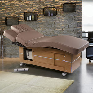 Electric Massage Table / Wooden / With Storage Compartment