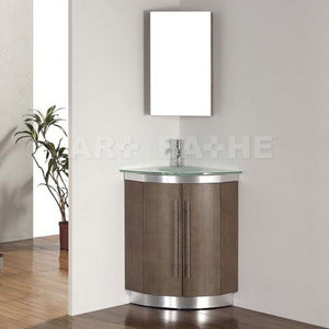 Beau Free Standing Washbasin Cabinet / Wooden / Contemporary / With Mirror
