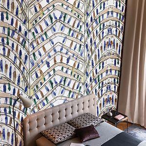 contemporary wallpaper sketch abstract motif