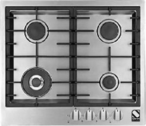 gas cooktop with grill cast iron wok