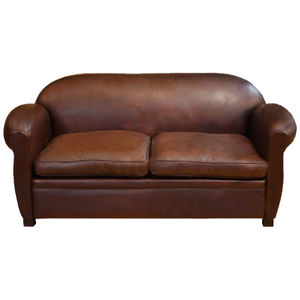 Compact Sofa / Traditional / Leather / Beech