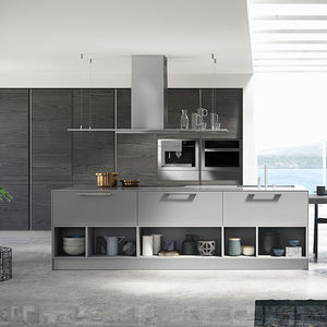 Island Kitchen Fully Equipped Kitchen With Island All - Contemporary kitchen with modular work island el_01 by elmar