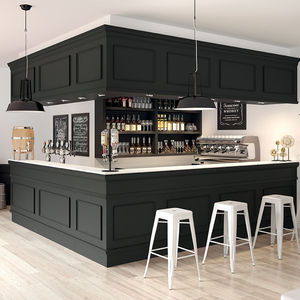 Bar Counter / Wooden / L Shaped