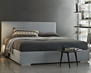 double bed contemporary fabric leather