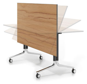 Contemporary Conference Table / Wooden / Rectangular / Folding