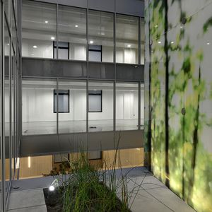 glass partition wall panels - all architecture and design