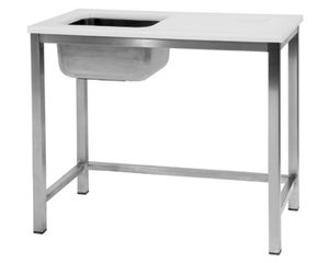 Stainless Steel Prep Table / With Sink