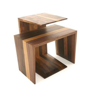 Contemporary Side Table Walnut Ash White Oak